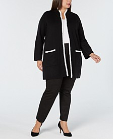Plus Size Sweater Jacket, Created for Macy's