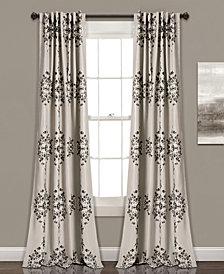 "Keya Medallion 84"" x 52"" Room Darkening Window Curtain Set"