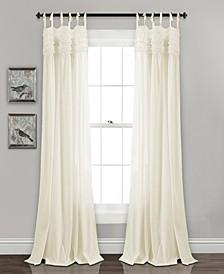 "Lydia Ruffle 40"" x 84"" Curtain Set"