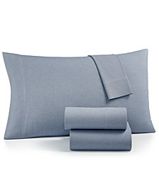 Charter Club SleepSoft Cotton 200 Thread Count 4-Pc. Yarn-Dyed Queen Sheet Set, Created for Macy's