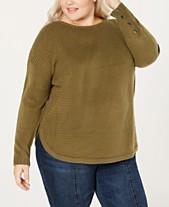 48dbeae9cdbd One A Plus Size Drop-Shoulder Sweater