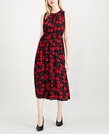 Maison Jules Printed Midi Dress, Created for Macy's