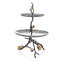 Butterfly Gingko 2 Tier Etagere
