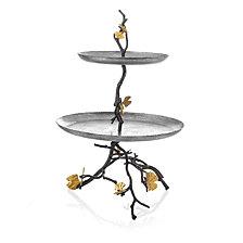 Michael Aram Butterfly Gingko 2 Tier Etagere