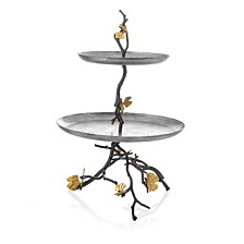 Michael Aram Butterfly Gingko 2 Tier Etagere