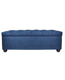 Sole Secret Obsession Diamond-tufted Shoe Storage Bench