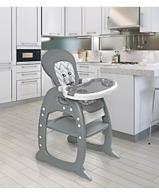 Badger Basket Unisex Envee II Baby High Chair with Playtable Conversion