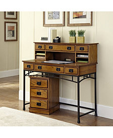 Home Styles Modern Craftsman Executive Desk, Hutch and Mobile File