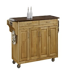 Home Styles Create-a-Cart Natural Finish with Cherry Top