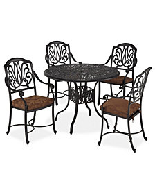 "Home Styles Floral Blossom 5 PC Dining Set (48"" Table)"