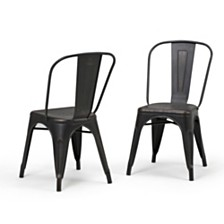 Set of 2 Fletcher Dining Chair, Quick Ship