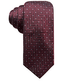 Alfani Men's Chevron Dot Slim Silk Tie, Created for Macy's