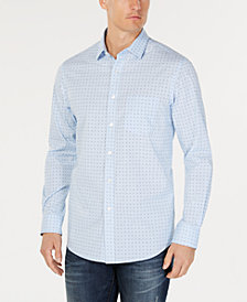 Club Room Men's Reese Dot-Print Stretch Shirt, Created for Macy's