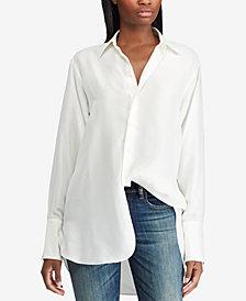 Polo Ralph Lauren Silk Oversize Shirt
