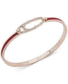 Lauren Ralph Lauren Gold-Tone Pavé & Enamel Bangle Bracelet
