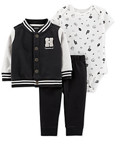 Carter's Baby Boys 3-Pc. Jacket, Bodysuit & Jogger Pants Set