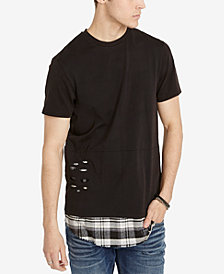 Buffalo David Bitton Men's Oversized Layered-Look T-Shirt