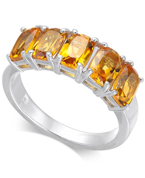 Macy's Citrine Five Stone Ring (2-3/4 ct. t.w.) in Sterling Silver