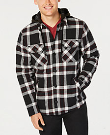 American Rag Men's Grand Plaid Hooded Shirt Jacket, Created for Macy's