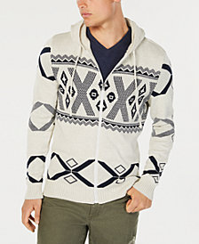 American Rag Men's Ski Geometric Hooded Sweater, Created for Macy's