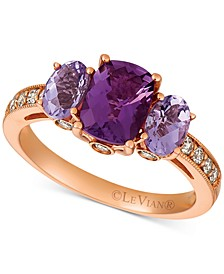 Amethyst (1-9/10 ct. t.w.) & Diamond (1/4 ct. t.w.) Ring in 14k Rose Gold