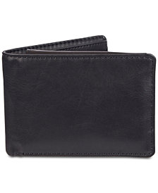 Exact Fit Men's Stretch RFID Powerbank Passcase Wallet