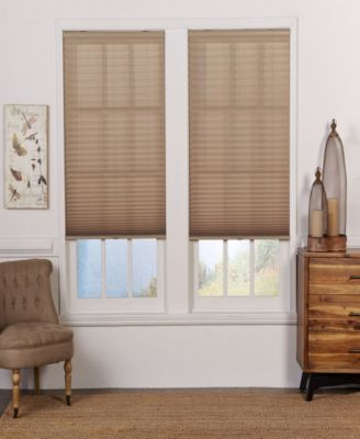 Cordless Light Filtering Pleated Shade, 46x72