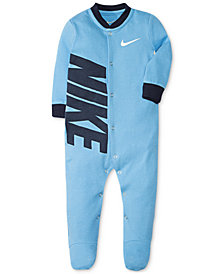 Nike Baby Boys Footed Cotton Coverall