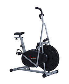 Sunny Health & Fitness SF-B2618 Air Resistance Hybrid Upright Exercise Bike w/ Arm Exercisers