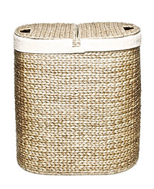 Water Hyacinth Lidded Oval Double Hamper