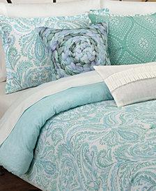 Painterly Paisley White Full/Queen Comforter Set