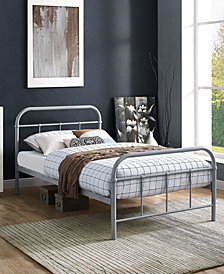 Maisie Twin Stainless Steel Bed Frame in White