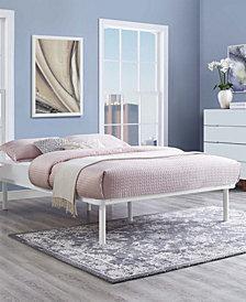 Rowan Queen Platform Bed Frame in White