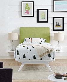 Tracy 3 Piece Twin Bedroom Set in White Orange