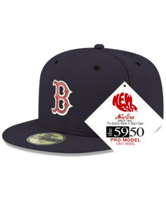 59FIFTY FITTED CAP RRP £30 FREE CAP BOX NEW ERA BLACK BOSTON RED SOX