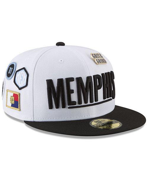 sale retailer 894b8 824e9 New Era Memphis Grizzlies City On-Court 59FIFTY FITTED Cap ...
