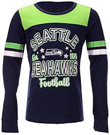 5th & Ocean Seattle Seahawks Slub Long Sleeve T-Shirt, Girls (4-16)