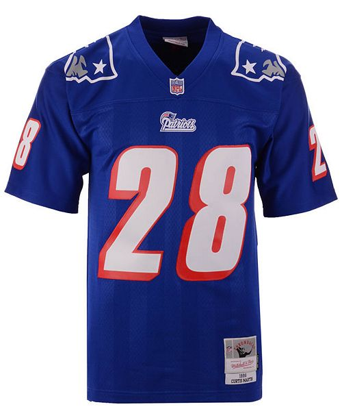 54c93d573d6 Mitchell & Ness Men's Curtis Martin New England Patriots Replica Throwback  Jersey ...
