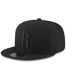 New Era Houston Rockets Alpha Triple Black 59FIFTY FITTED Cap