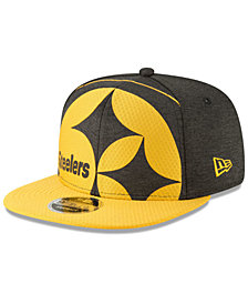 New Era Pittsburgh Steelers Oversized Laser Cut 9FIFTY Snapback Cap