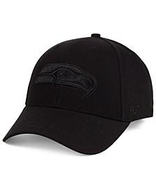 Seattle Seahawks Black & Black MVP Strapback Cap