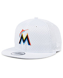 New Era Miami Marlins Batting Practice Mesh 9FIFTY Snapback Cap