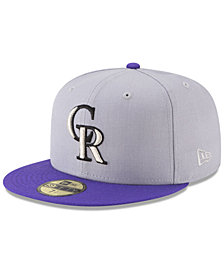 New Era Colorado Rockies Batting Practice Wool Flip 59FIFTY FITTED Cap