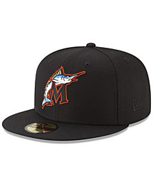 New Era Florida Marlins Batting Practice Wool Flip 59FIFTY FITTED Cap