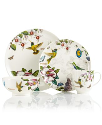 main image  sc 1 st  Macyu0027s & Portmeirion CLOSEOUT! Dinnerware Botanic Hummingbird Collection ...
