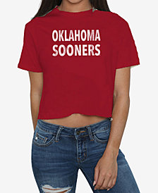 Retro Brand Women's Oklahoma Sooners Cropped T-Shirt