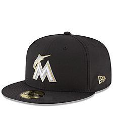 New Era Miami Marlins Prolite Gold Out 59FIFTY FITTED Cap