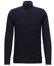 BOSS Men's Virgin Wool Turtleneck Sweater