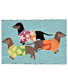 Liora Manne Front Porch Indoor/Outdoor Tropical Hounds Multi 2' x 3' Area Rug