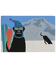 Liora Manne Front Porch Indoor/Outdoor Digging In The Snow Winter Area Rugs